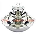 steamboat  divided into three storeys-Hot pot Ware