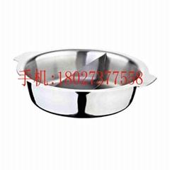無卷邊不鏽鋼鴛鴦火鍋 電磁爐專用火鍋鍋具