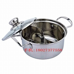 Various  shapes hot pot,Stainless Steel Yin Yang Dual Sided Hot Pot Cookware