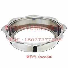 Hot pot table Matching Sinken Type stainless steel Gas Hot Pot Ring