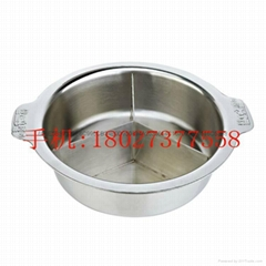 Chiri Nabe Cooking Stainless Steel Pot with Partition (3 Conpartment)