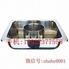s/s cooking pan with hole Central pot & 2 partition Available Gas furnace