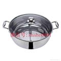 Stainless steel yin yang dual sided hot pot (manufactueres) 6