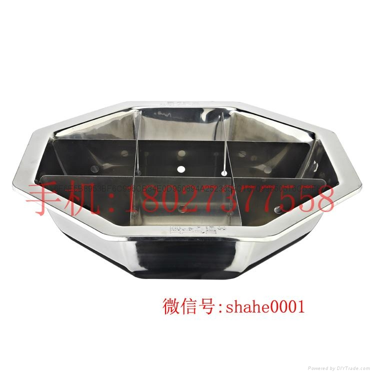 Stainless steel yin yang dual sided hot pot (manufactueres) 7