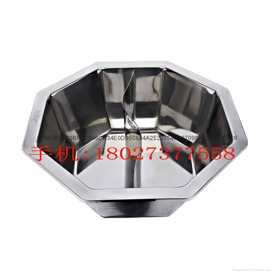 Stainless steel yin yang dual sided hot pot (manufactueres) 9