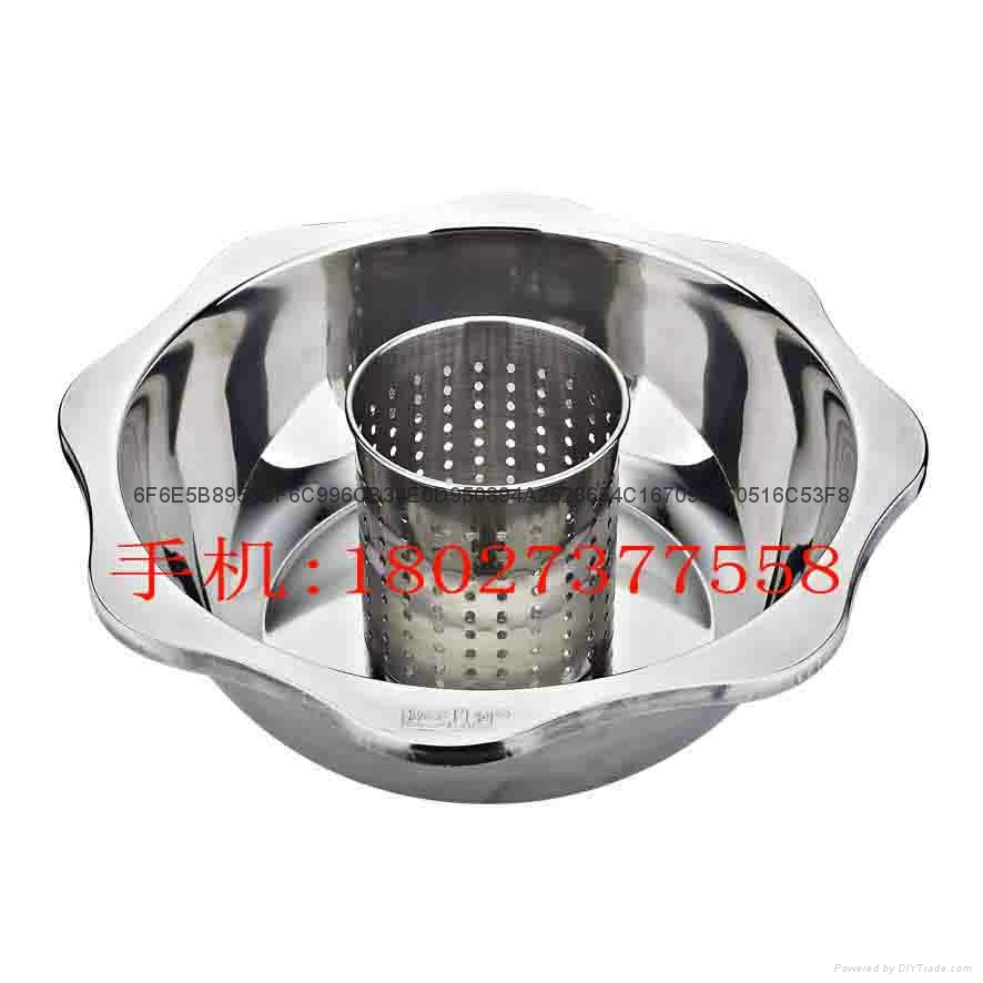 Stainless steel yin yang dual sided hot pot (manufactueres) 10