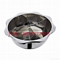 Stainless steel yin yang dual sided hot pot (manufactueres) 14