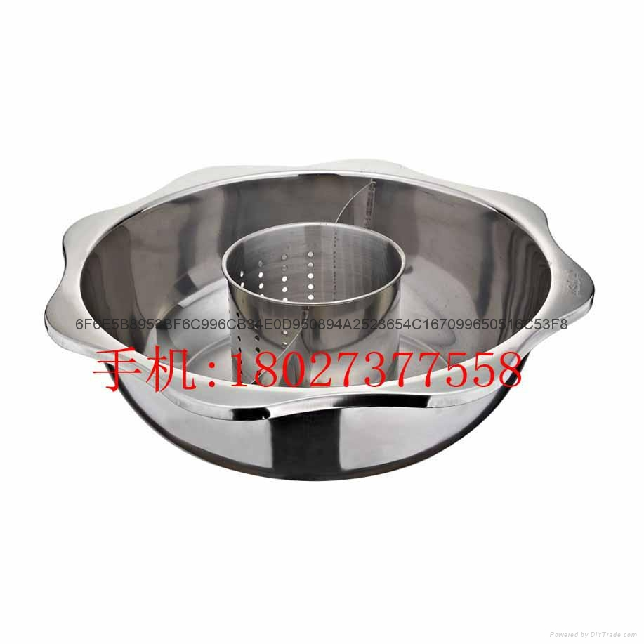 Stainless steel yin yang dual sided hot pot (manufactueres) 11