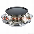 Stainless steel yin yang dual sided hot pot (manufactueres) 16