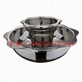 Stainless steel yin yang dual sided hot pot (manufactueres) 17