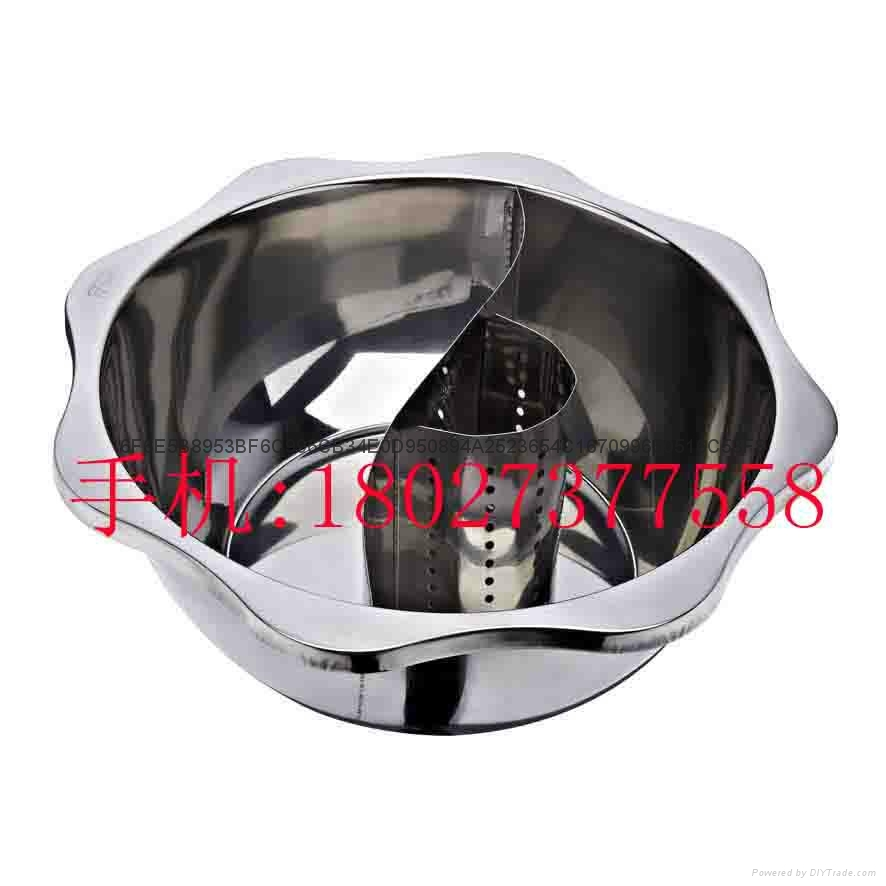 Stainless steel yin yang dual sided hot pot (manufactueres) 19