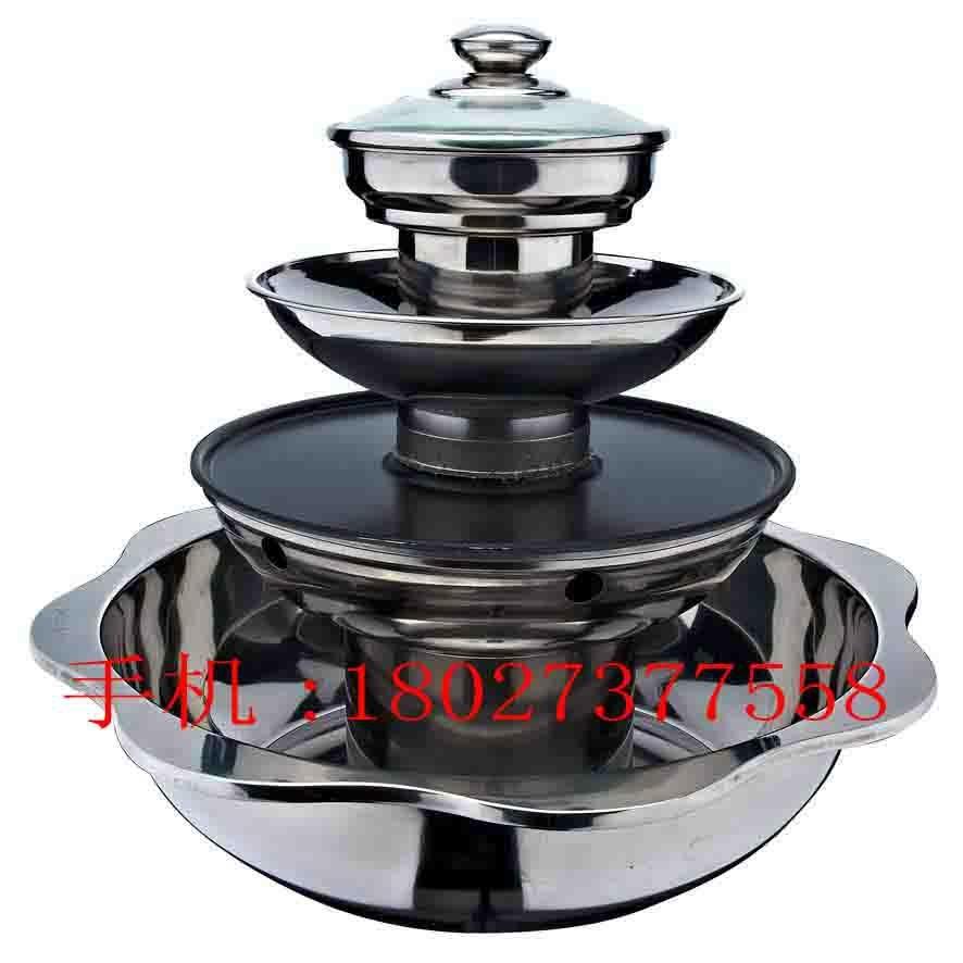 帶燒烤四層火鍋 多層火鍋帶燒烤 2