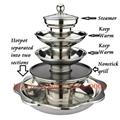 不鏽鋼帶燒烤多層火鍋鍋具