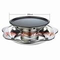 現貨供應湯烤鍋王 四層火鍋 寶塔多層火鍋 燒烤鍋