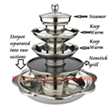 湯烤蒸多層火鍋