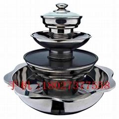 Soup & Teppanyaki BBQ Steam Multi-use Hot Pot Steamboat