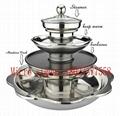 Stainless Steel Quadruple Layer Hotpot