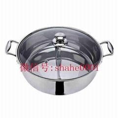 根据客户要求来图来样加工定做各种不锈钢火锅