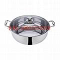 根據客戶要求來圖來樣加工定做各種不鏽鋼火鍋
