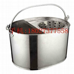 Stainless Steel Mop Bucket with  Wringer Janitorial Supplies