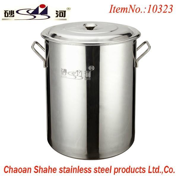 厨房18/10不锈钢大容量汤桶不容易生锈可用燃气炉 2