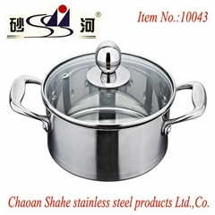 Stainless steel pot,tri ply material steamboat hot pot