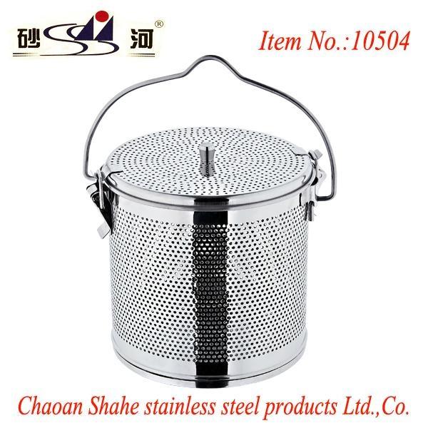 不鏽鋼湯籃、不鏽鋼板網湯料籃
