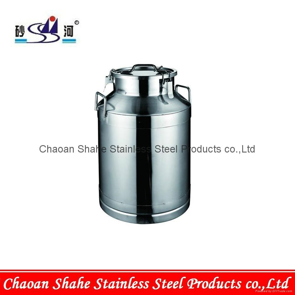 Stainless steel milk keg