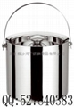 stainless steel double wall ice buckets