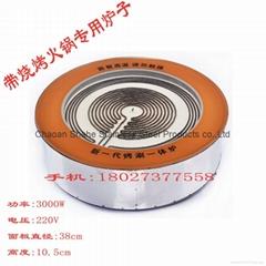圆形钛晶面板电陶炉