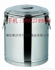 厂家营销不锈钢大容量保温米饭桶厨具汤桶可加锁食品隔热容器出卖