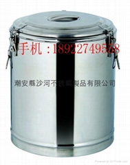 s/s lage capacity insulate heat preservation soup barrel liquid food container