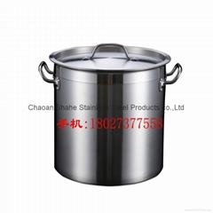 05款不锈钢复合底汤桶 电磁炉锅商用 不锈钢桶 家用复底汤锅