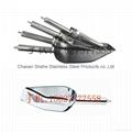 Hotel bar tools restaurant kitchenware s/s flat bottom ice shovel grain scoop 2