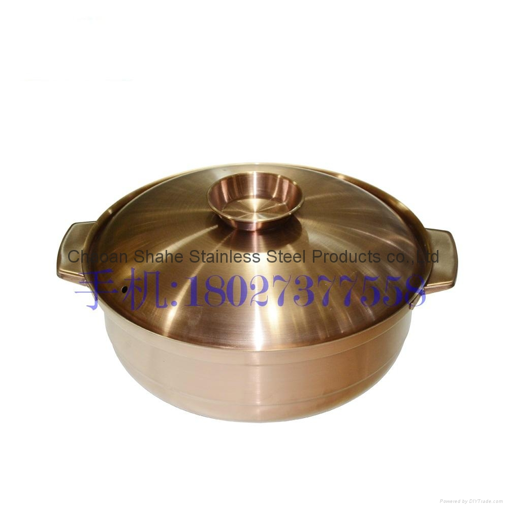 26 cm 1.886 kg stainless steel cooking soup pot  3