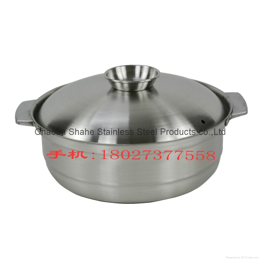 26 cm 1.886 kg stainless steel cooking soup pot  4