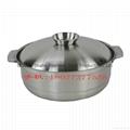 海南椰子雞火鍋加厚不鏽鋼湯鍋商用電磁爐用燉湯砂鍋供廣州店 4