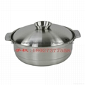 S/S thickened coconut chicken hot pot Available gas stove & induction cooker 4
