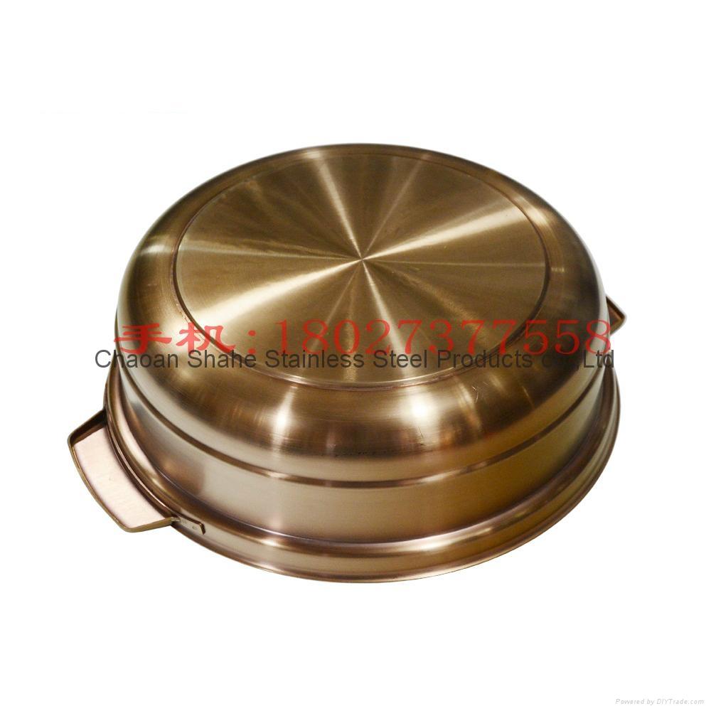 海南椰子鸡火锅加厚不锈钢汤锅商用电磁炉用炖汤砂锅供广州店 5