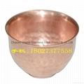 紫铜手打茶杯 潮汕功夫茶具 锤点茶杯 买铜茶杯找沙河 2