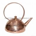紫铜手打茶壶 潮汕功夫茶壶 锤