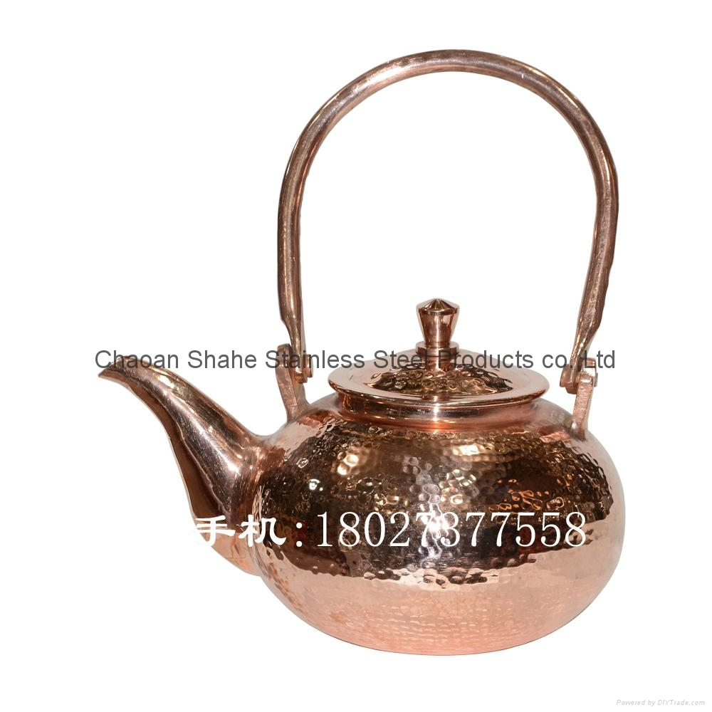 Handmade Copper water pot with Hammer point 3