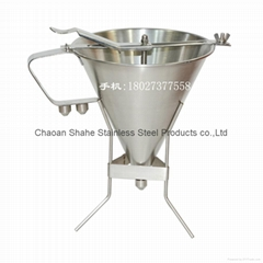 diameter 20 cm,material 304 stainless steel Confectionery funnel with  stand