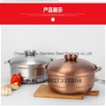 S/S Cooking Food Containers Kitchen Coconut Chicken Casserole use for gas cooker 3