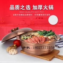 廠家營銷紫銅色不鏽鋼大容量湯鍋廚房砂鍋湯煲容器中國質造促銷