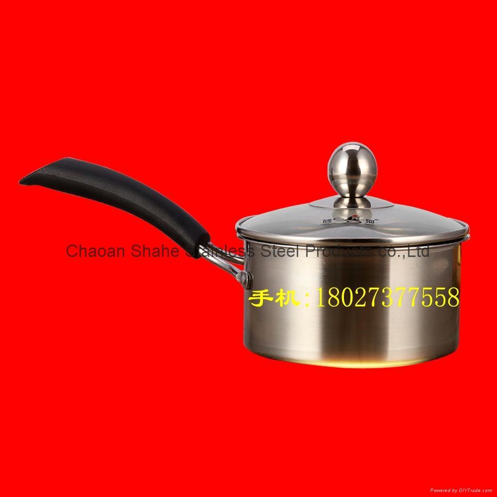 单柄不锈钢奶锅 1