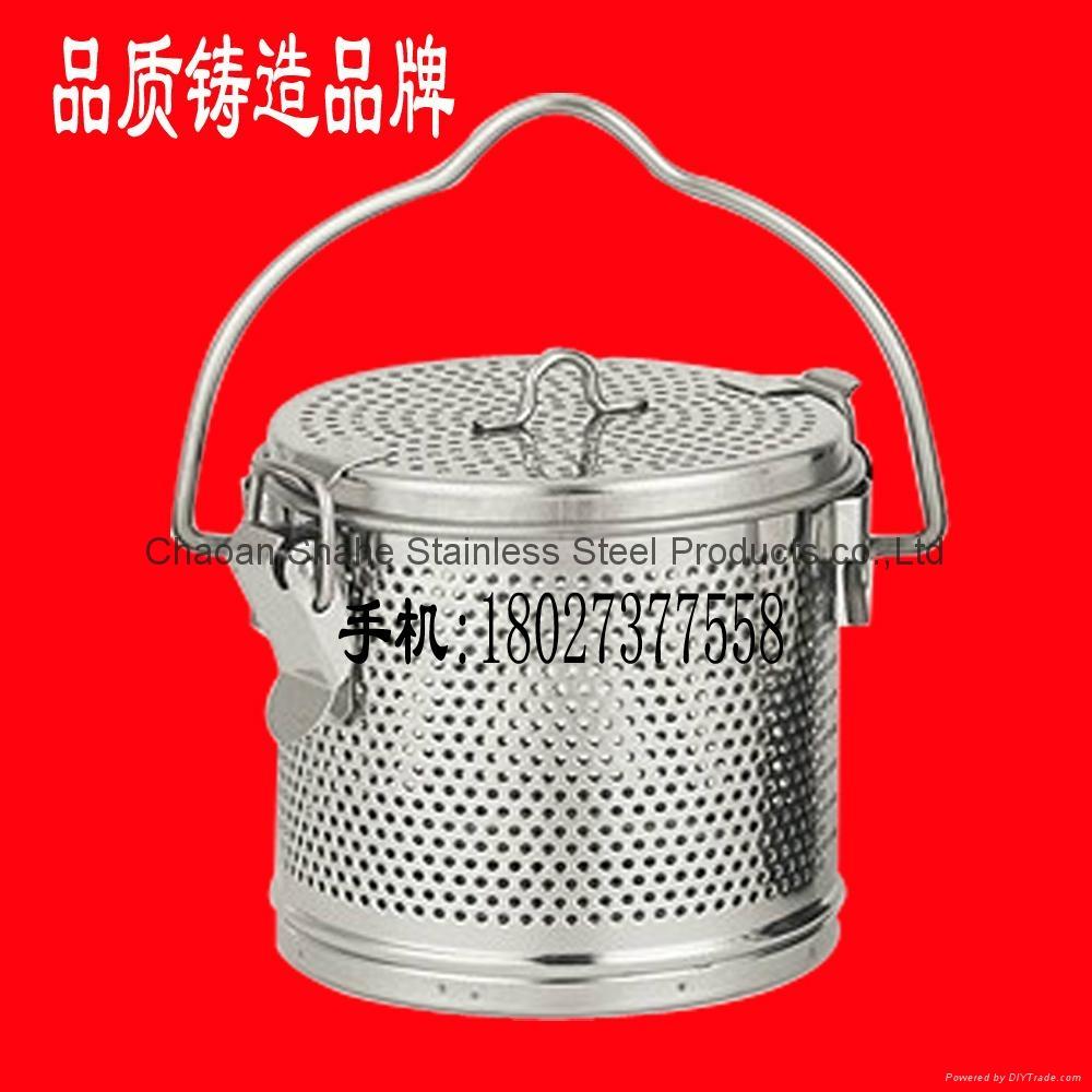 不锈钢汤篮、不锈钢板网汤料篮