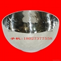 Tableware 304 Stainless Steel Hammered Soup Bowl with difficult to rust