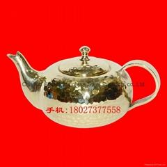 手打錘點紫銅潮汕工夫泡茶壺 廣州銅器店