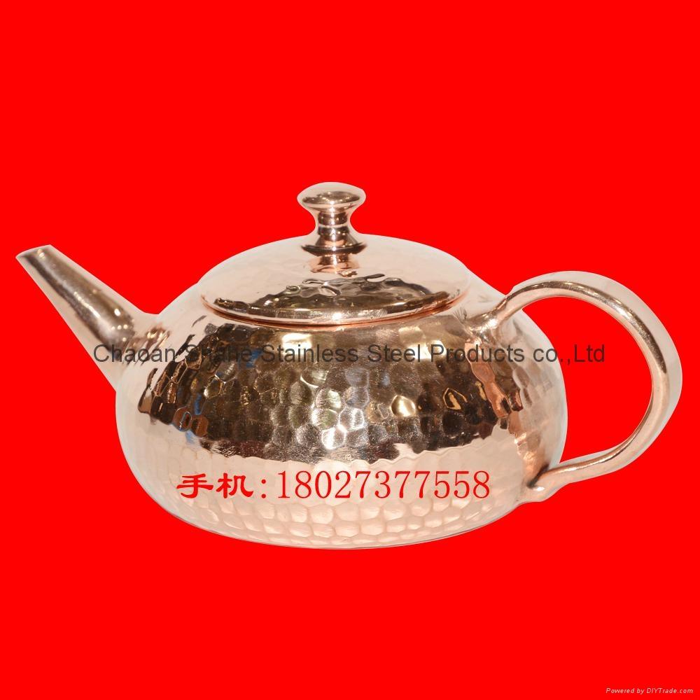Handmade Copper Chaoshan Gongfu Tea pot 2